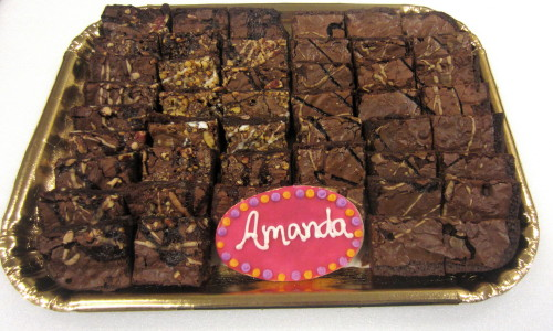 1/2 & 1/2 Brownie Tray Custom
