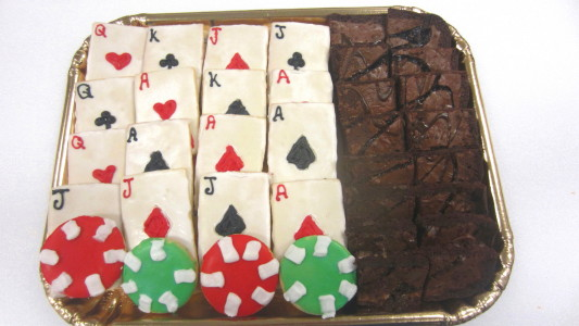Poker Cookie Tray